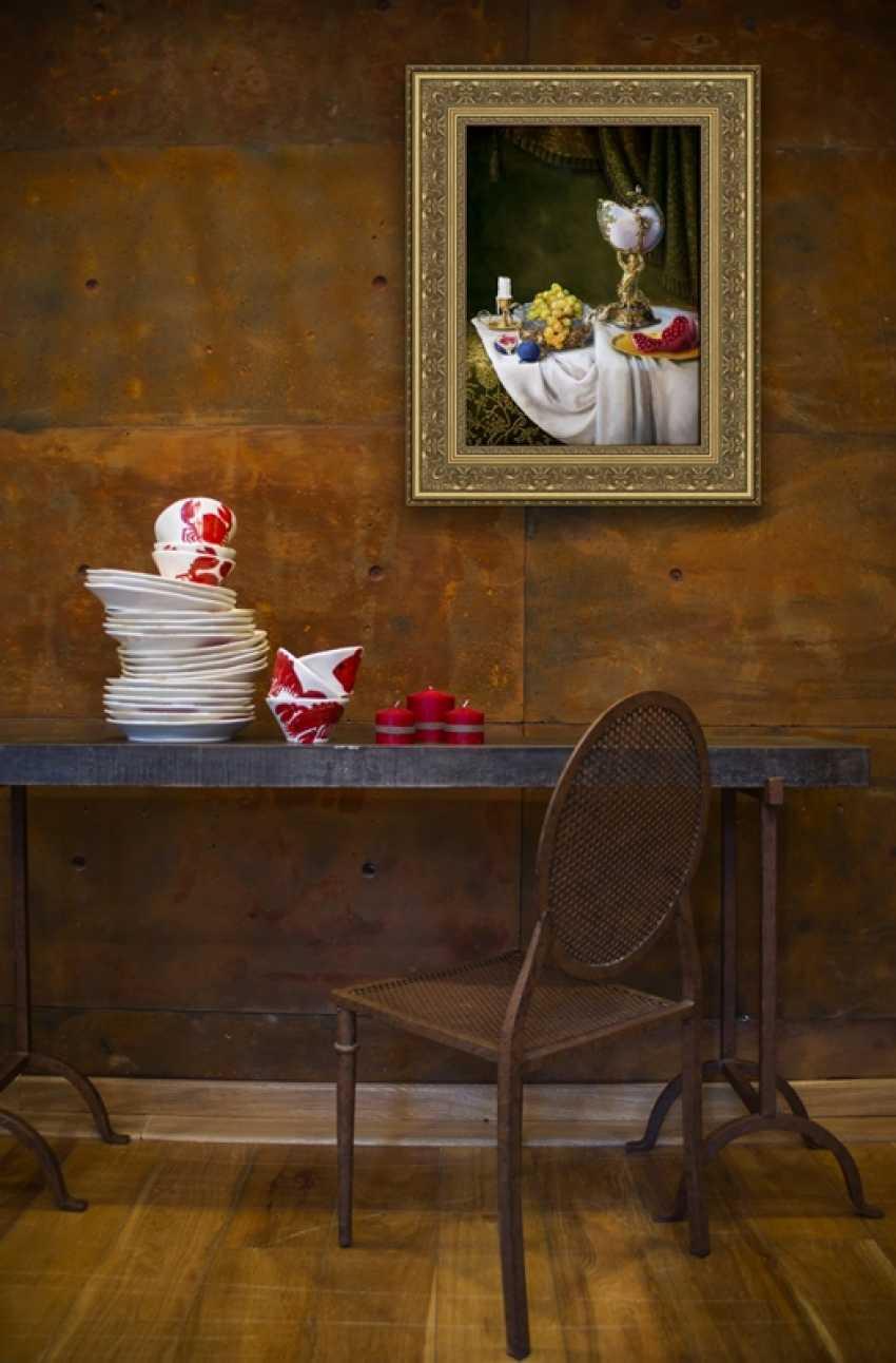 Nataliia Bahatska. Still Life with Grapes and Figs. - photo 2
