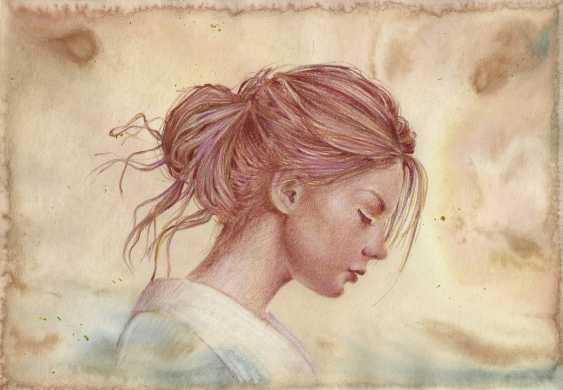 Natasha Mishareva. Girl in a kimono. Drawing, handwork, 2019 Author - Pisareva Natalia - photo 1