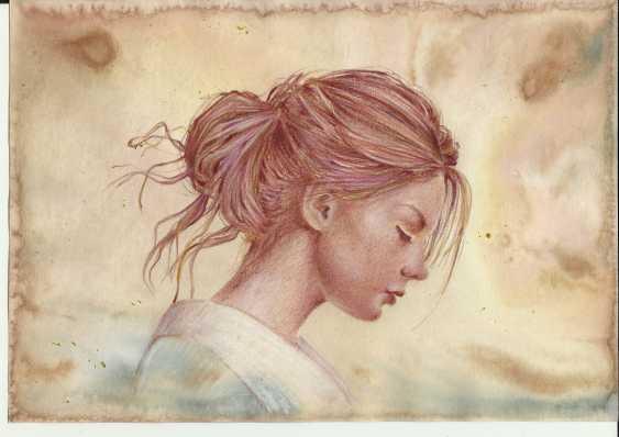 Natasha Mishareva. Girl in a kimono. Drawing, handwork, 2019 Author - Pisareva Natalia - photo 4