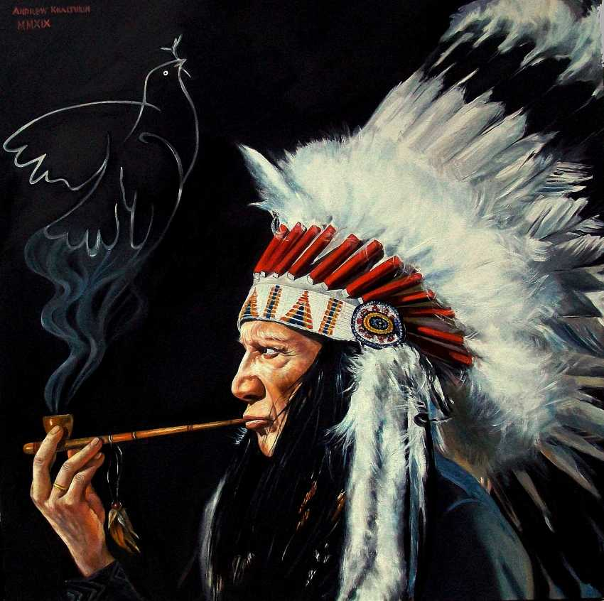 Andrew Khalturin. Picasso in the image of the Indian chief comes up with your main symbol-dove of Peace - photo 1