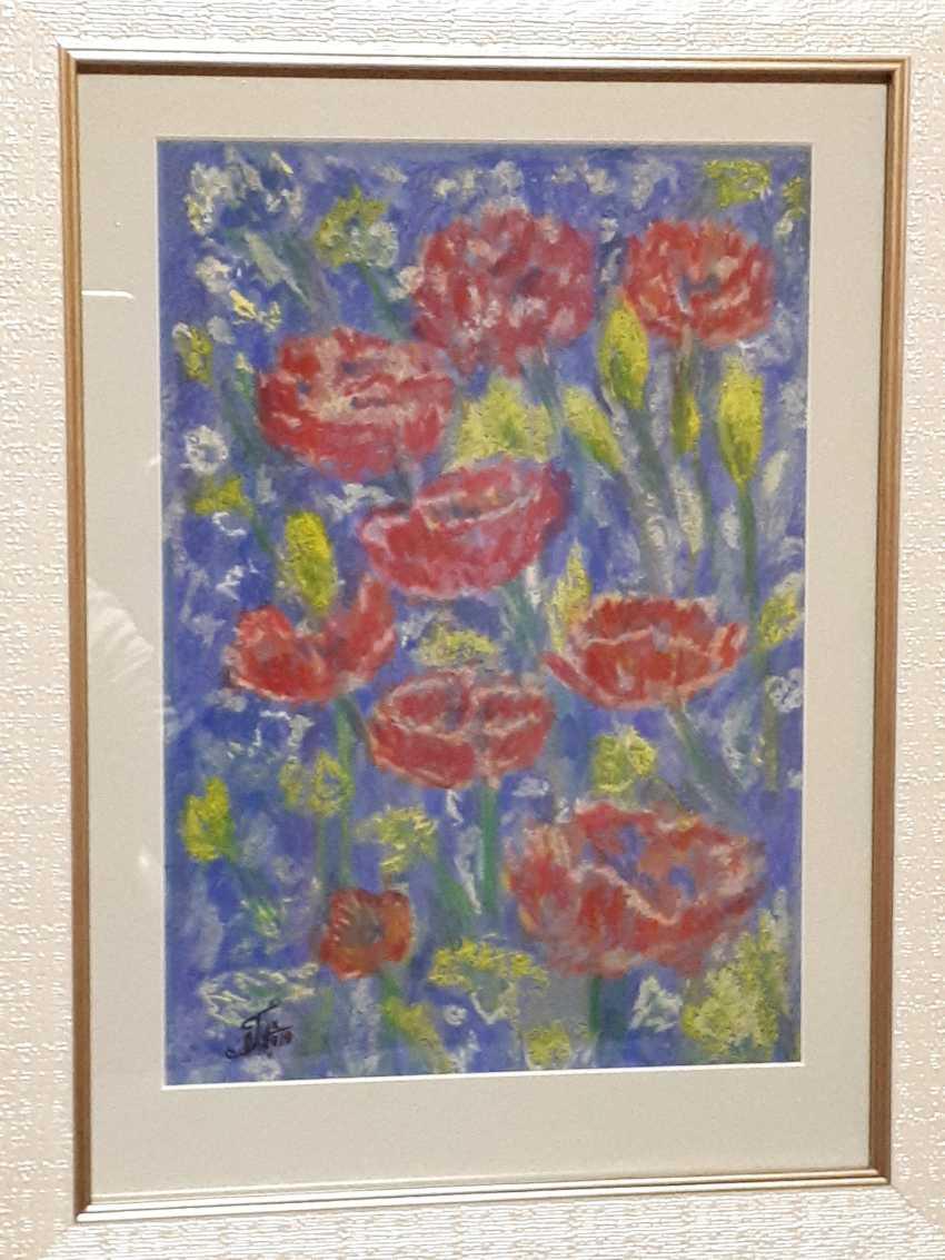 "Olga Gorshkova. ""Poppies and lupins field"" - photo 1"