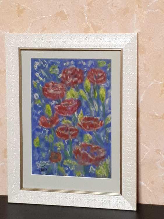 "Olga Gorshkova. ""Poppies and lupins field"" - photo 2"