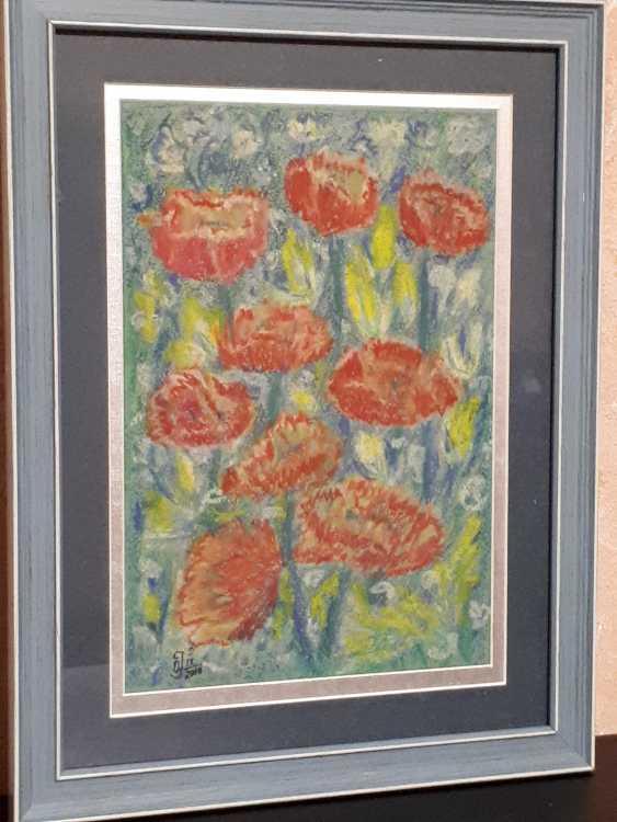 "Olga Gorshkova. ""Poppies and lupins field"" (2) - photo 1"