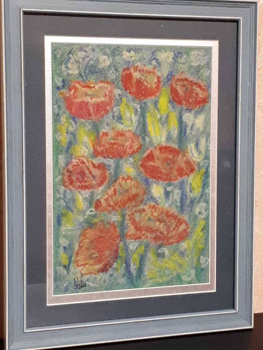 "Olga Gorshkova. ""Poppies and lupins field"" (2) - photo 2"