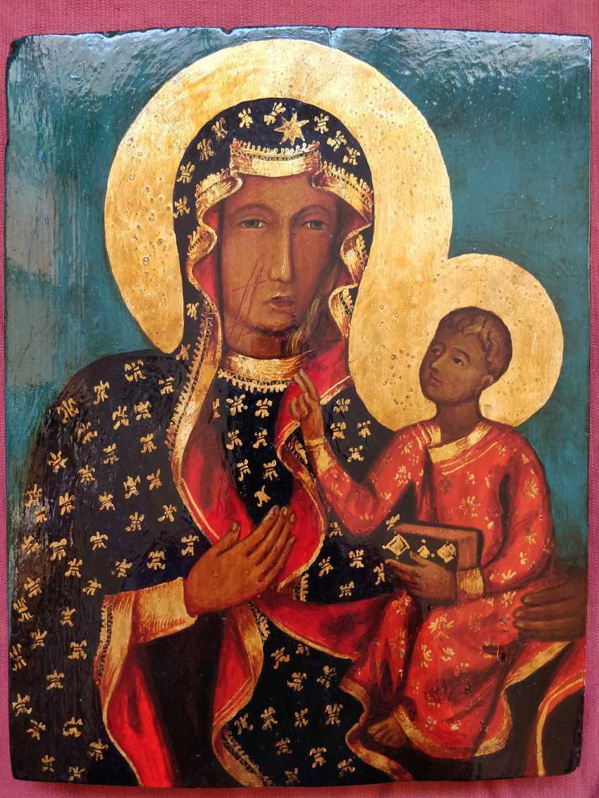 Artem Kopaihorenko. Black Madonna, Icon Our Lady of Czestochowa ,Madonna and Child, Catholic paintings - photo 1
