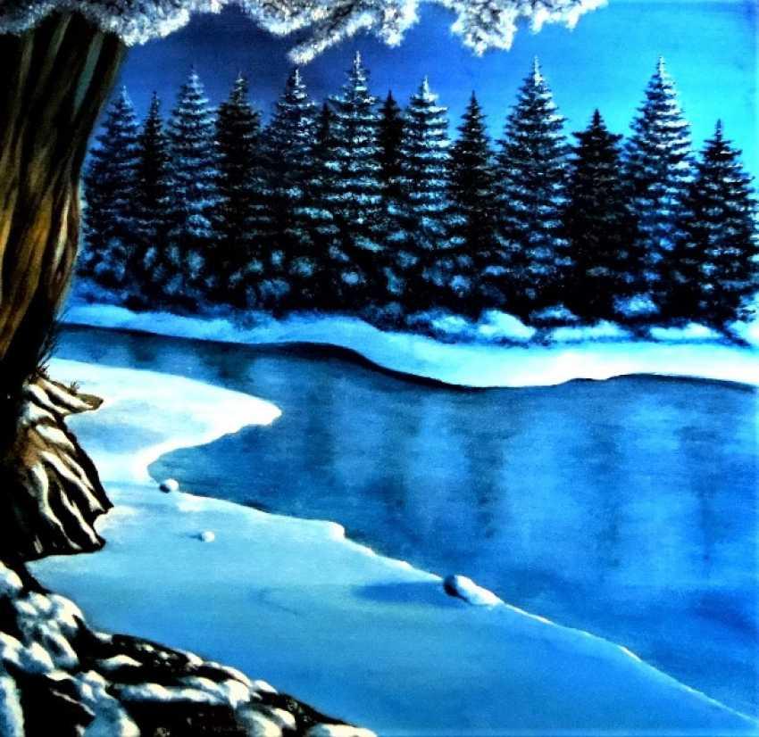 Алекс Нэинт. Зимняя речка - фото 1