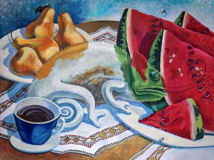 Sviatlana Vetrava. Frühstück und eine Tasse Kaffee - Foto 1