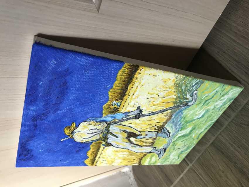 Yevhenii Tsyganenko. Copy of the painting of van Gogh's ' the Reaper ' - photo 2