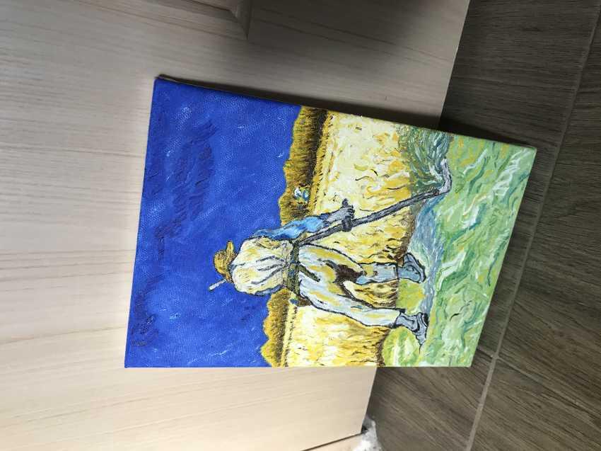 Yevhenii Tsyganenko. Copy of the painting of van Gogh's ' the Reaper ' - photo 3