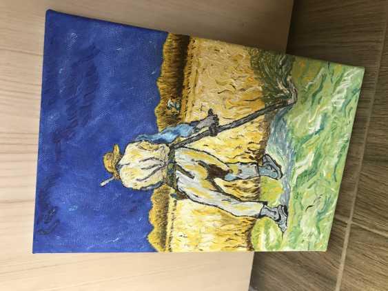 Yevhenii Tsyganenko. Copy of the painting of van Gogh's ' the Reaper ' - photo 4
