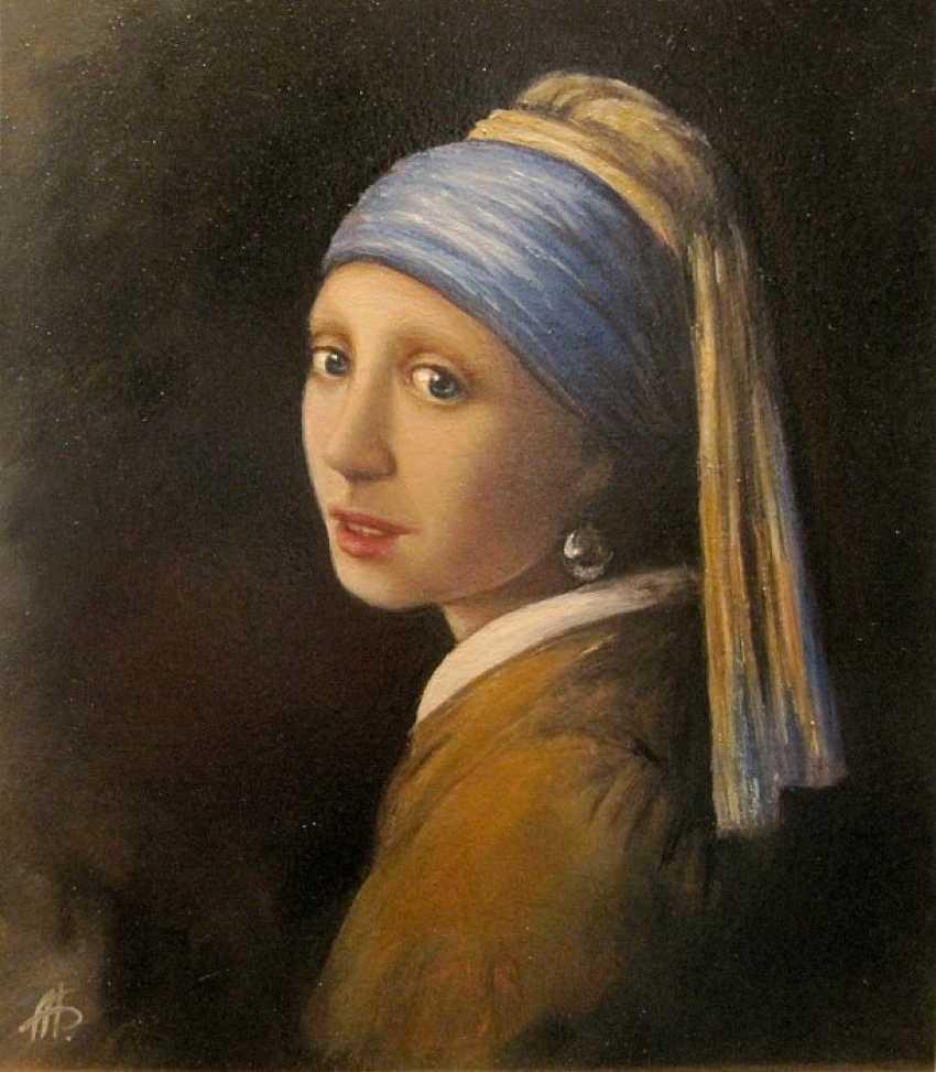 Alexandra Berezovenko. harry la copie du tableau «la jeune Fille à la perle» - photo 1