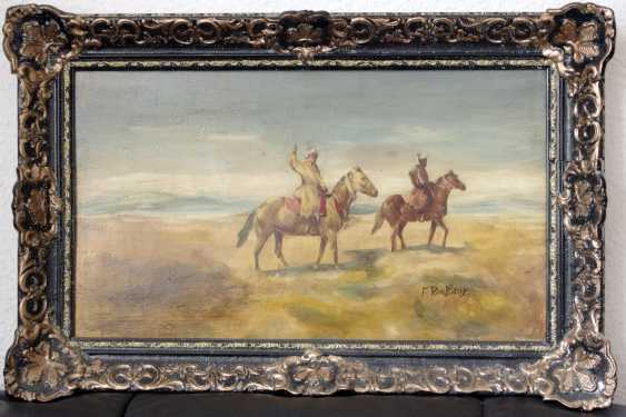 Antique painting by Franz Roubaud signed. Russia around 1880 - photo 1
