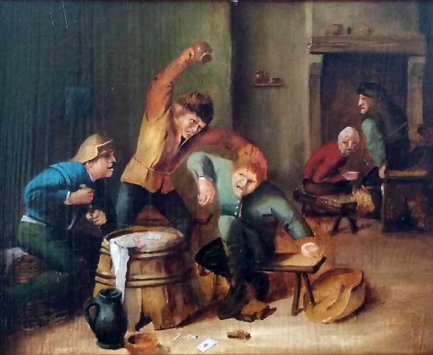 Antique paintings, Flemish around 1800, Restored. - photo 2