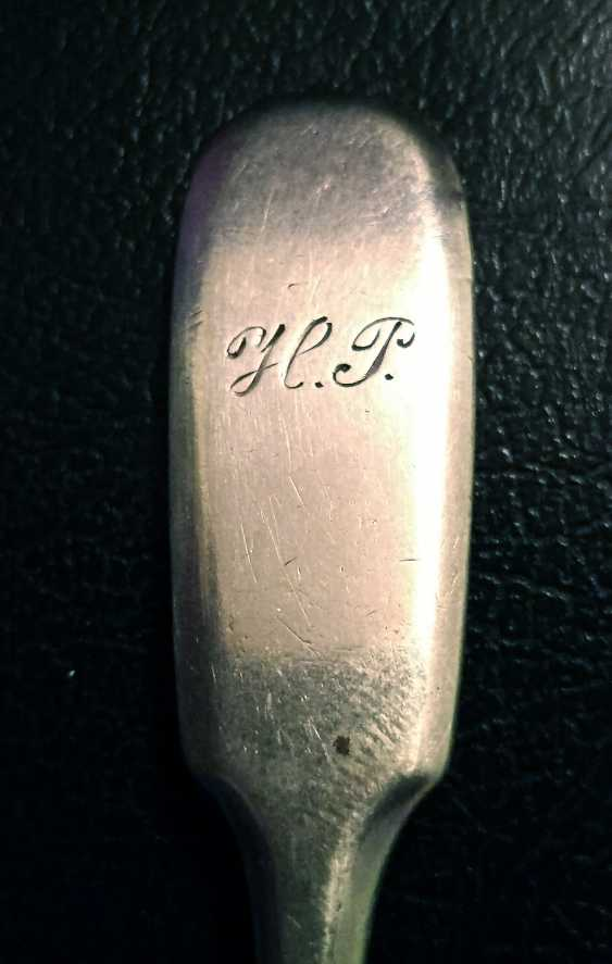 Antique silver teaspoon, Russia, around 1890 - photo 4