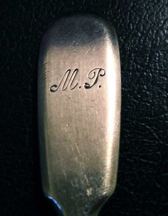 Antique silver teaspoon, Russia, around 1890 - photo 5
