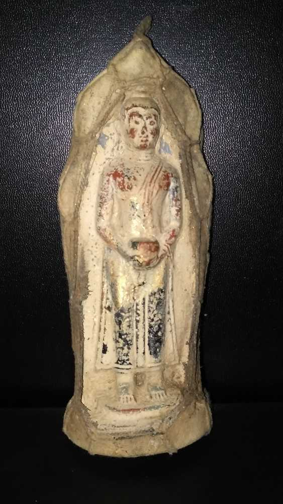 Qing dynasty clay Buddha sculpture to 1800 - photo 1