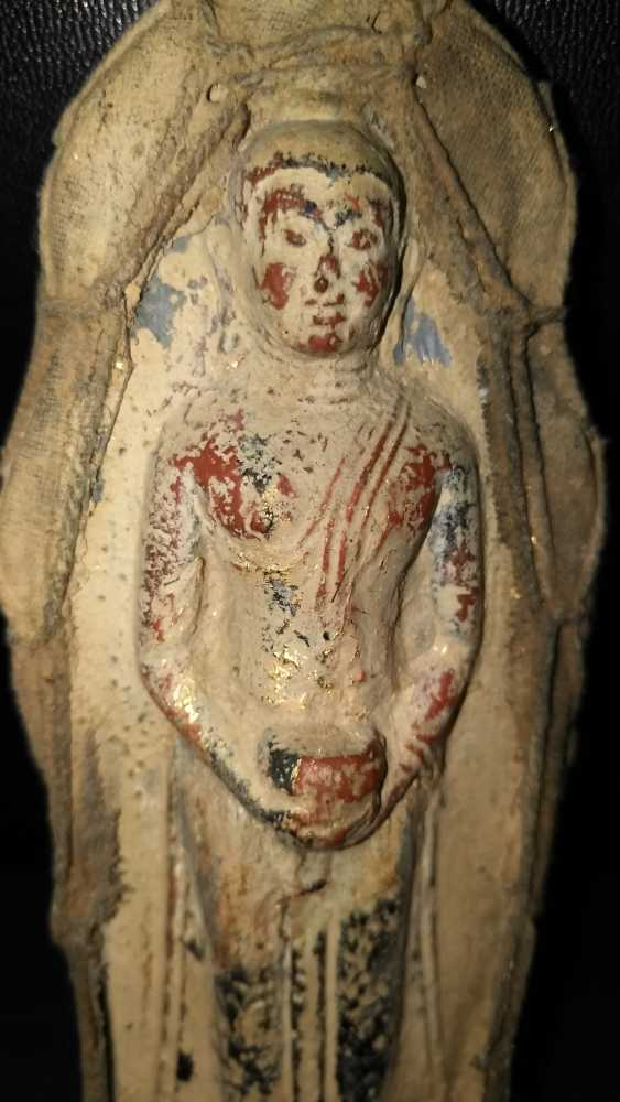 Qing dynasty clay Buddha sculpture to 1800 - photo 2