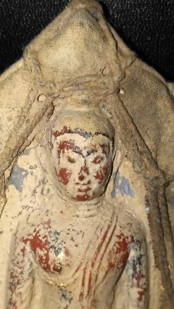 Qing dynasty clay Buddha sculpture to 1800 - photo 3