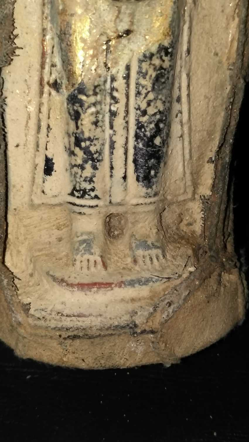 Qing dynasty clay Buddha sculpture to 1800 - photo 5