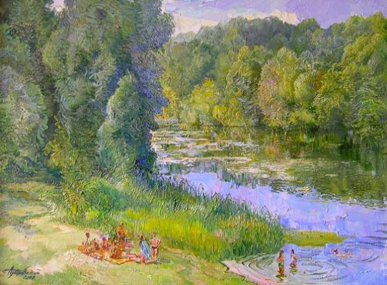 Aleksandr Dubrovskyy. Riverside Painting by Aleksandr Dubrovskyy - photo 1