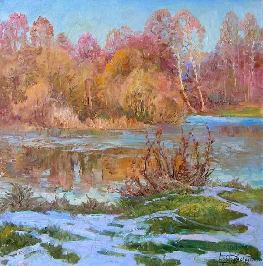 Aleksandr Dubrovskyy. First snowfall Painting byAleksandr Dubrovskyy - photo 1