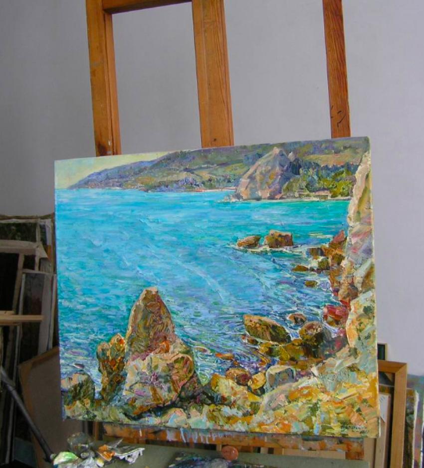 Aleksandr Dubrovskyy. Sun bay Painting by Aleksandr Dubrovskyy - photo 3