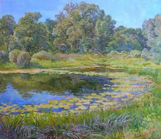Aleksandr Dubrovskyy. La Nature de la rivière et de l'eau lily Peinture par Alexandre Dubrovskyy - photo 1