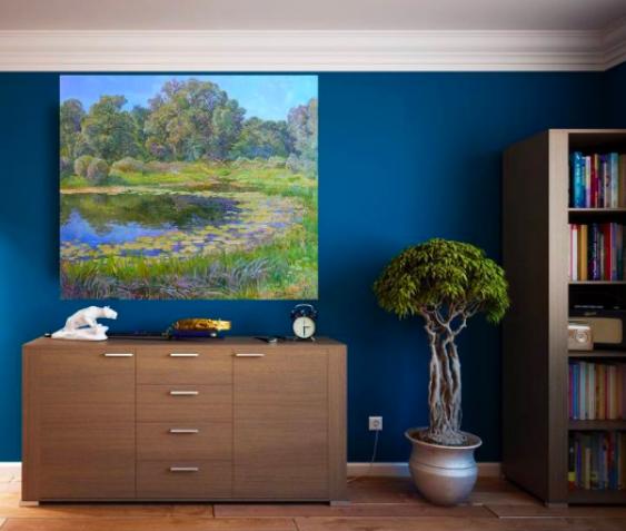 Aleksandr Dubrovskyy. La Nature de la rivière et de l'eau lily Peinture par Alexandre Dubrovskyy - photo 3