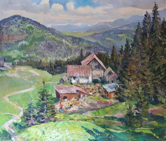 Aleksandr Dubrovskyy. Moment in the Carpathians Painting by Aleksandr Dubrovskyy - photo 1