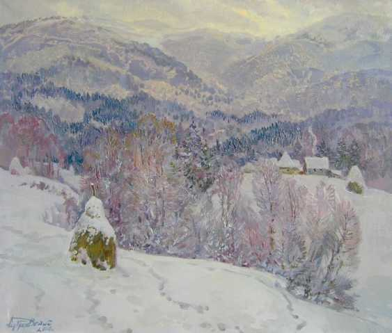 Aleksandr Dubrovskyy. Winter in the mountains Painting by Aleksandr Dubrovskyy - photo 1