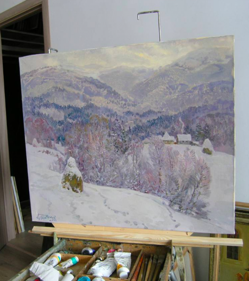 Aleksandr Dubrovskyy. Winter in the mountains Painting by Aleksandr Dubrovskyy - photo 2
