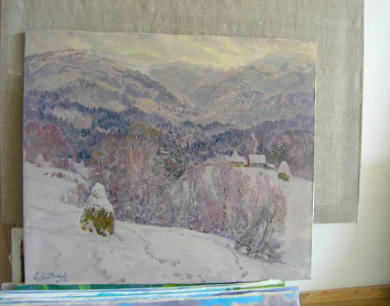 Aleksandr Dubrovskyy. Winter in the mountains Painting by Aleksandr Dubrovskyy - photo 4