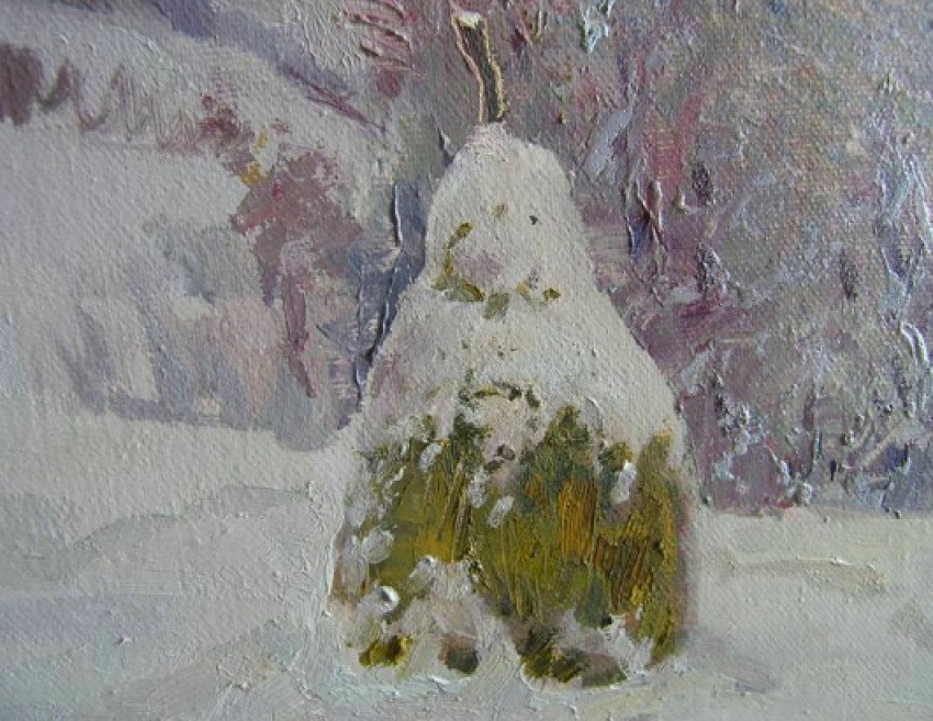 Aleksandr Dubrovskyy. Winter in the mountains Painting by Aleksandr Dubrovskyy - photo 5