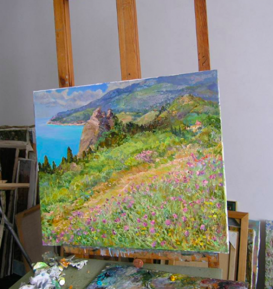 Aleksandr Dubrovskyy. On the south coast Painting by Aleksandr Dubrovskyy - photo 2