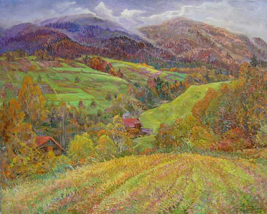 Aleksandr Dubrovskyy. In the mountains Painting by Aleksandr Dubrovskyy - photo 1