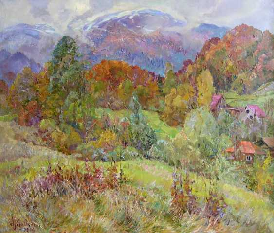 Aleksandr Dubrovskyy. Clouds come down from the mountains Painting by Aleksandr Dubrovskyy - photo 1