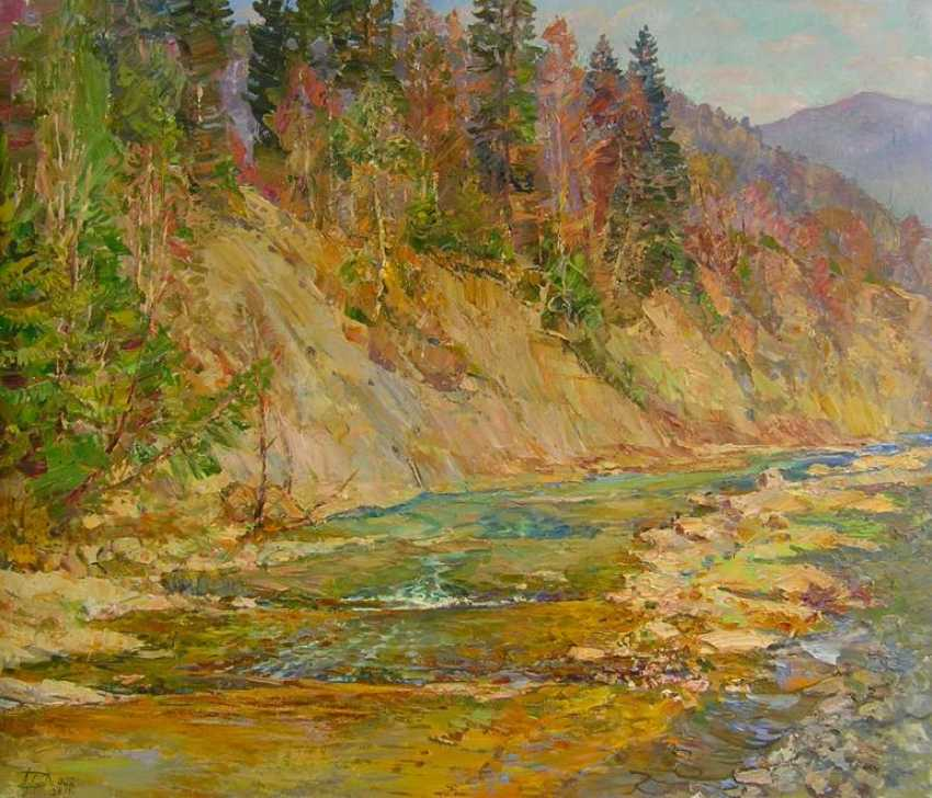 Aleksandr Dubrovskyy. Mountain river Painting by Aleksandr Dubrovskyy - photo 1