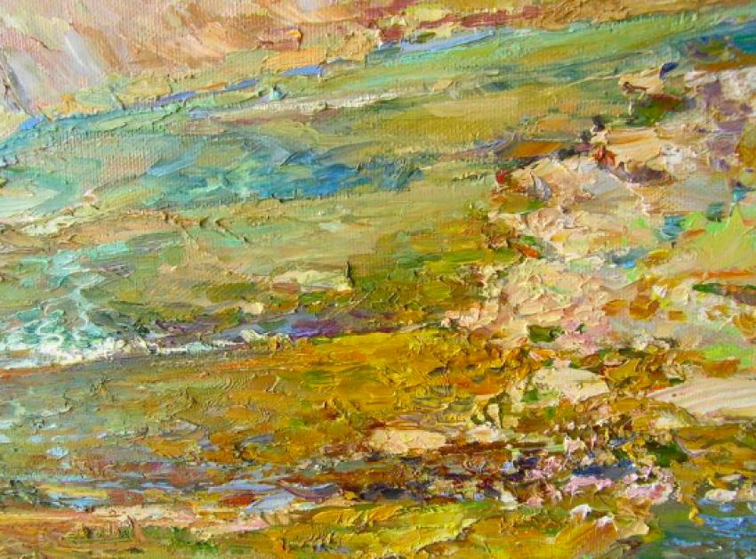 Aleksandr Dubrovskyy. Mountain river Painting by Aleksandr Dubrovskyy - photo 3