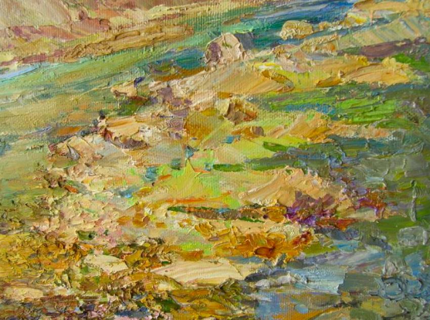 Aleksandr Dubrovskyy. Mountain river Painting by Aleksandr Dubrovskyy - photo 4