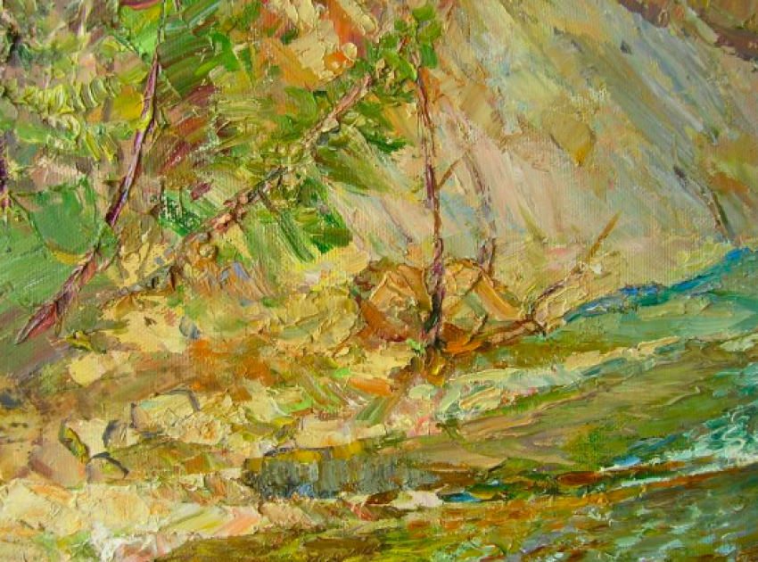 Aleksandr Dubrovskyy. Mountain river Painting by Aleksandr Dubrovskyy - photo 5