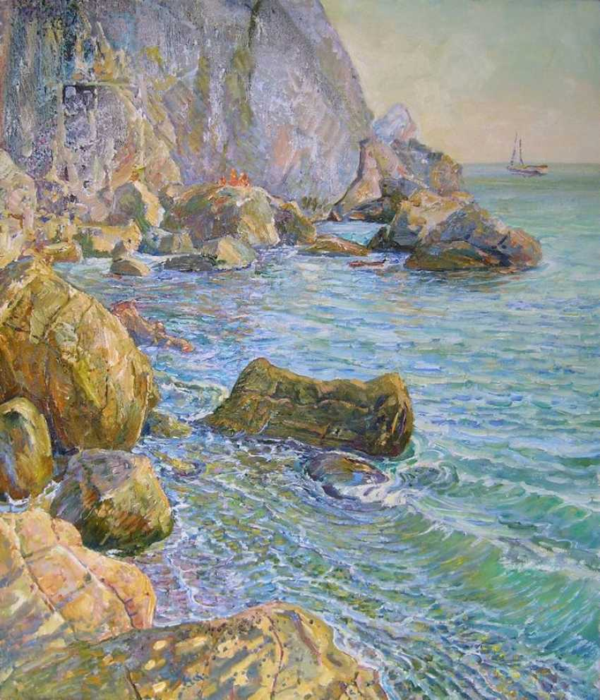 Aleksandr Dubrovskyy. On The Rocks Painting by Aleksandr Dubrovskyy - photo 1
