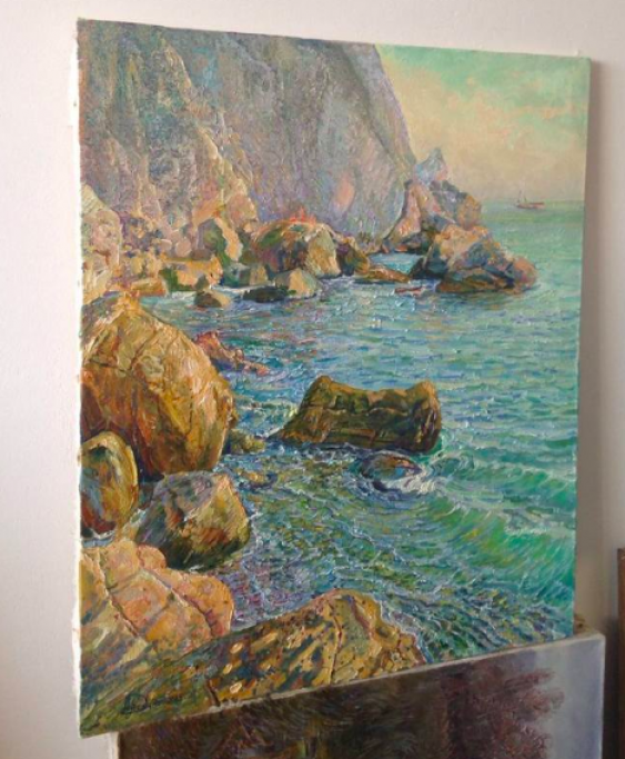 Aleksandr Dubrovskyy. On The Rocks Painting by Aleksandr Dubrovskyy - photo 2