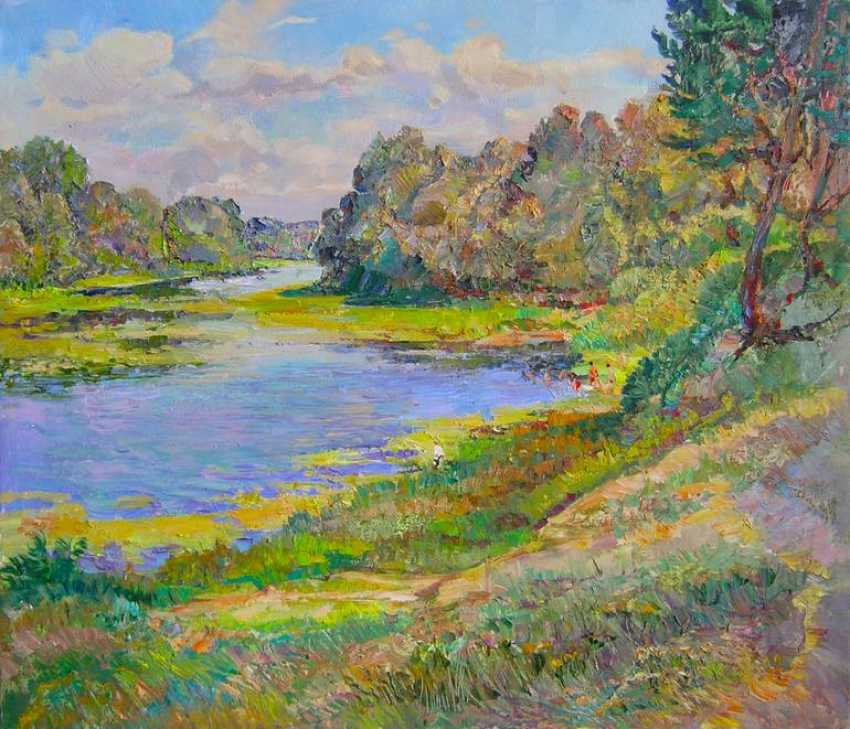 Aleksandr Dubrovskyy. By the river Painting by Aleksandr Dubrovskyy - photo 1