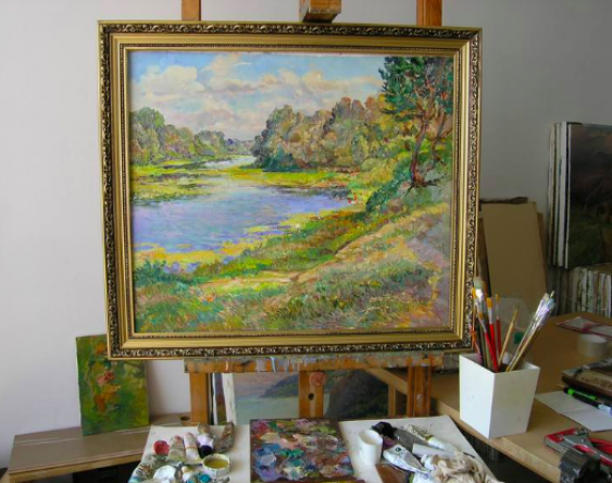 Aleksandr Dubrovskyy. By the river Painting by Aleksandr Dubrovskyy - photo 3
