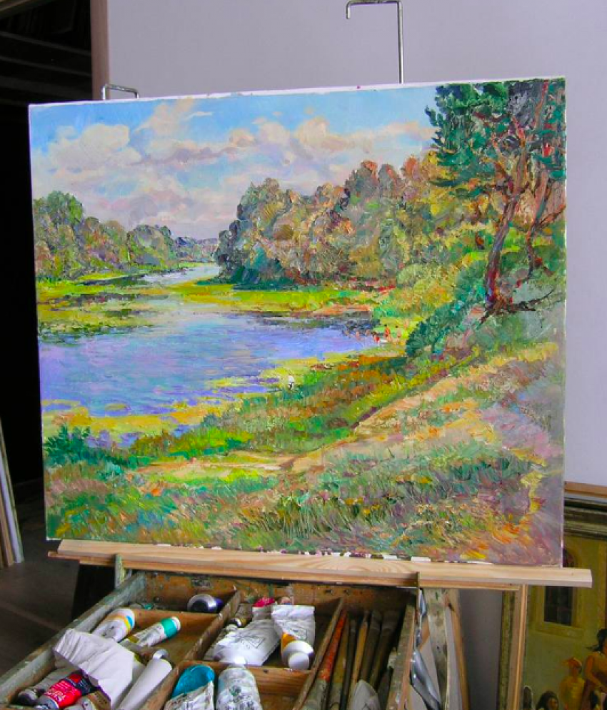 Aleksandr Dubrovskyy. By the river Painting by Aleksandr Dubrovskyy - photo 6