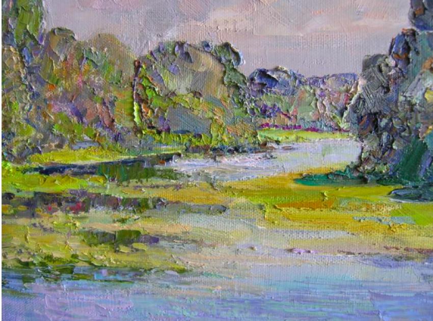 Aleksandr Dubrovskyy. Par la rivière de la Peinture par Alexandre Dubrovskyy - photo 4