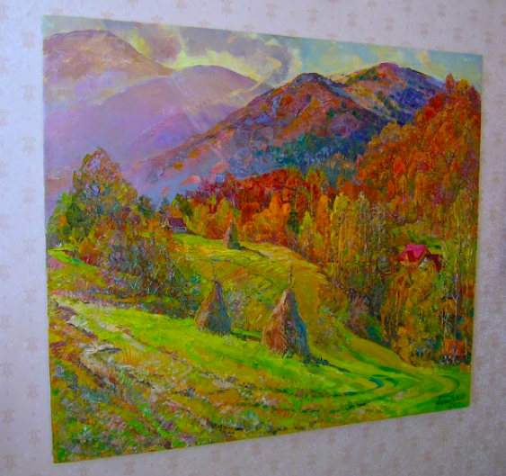 Aleksandr Dubrovskyy. Beautiful autumn in the mountains Painting by Aleksandr Dubrovskyy - photo 3