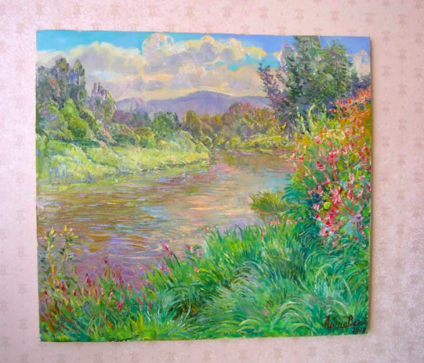 Aleksandr Dubrovskyy. River bank Painting by Aleksandr Dubrovskyy - photo 3