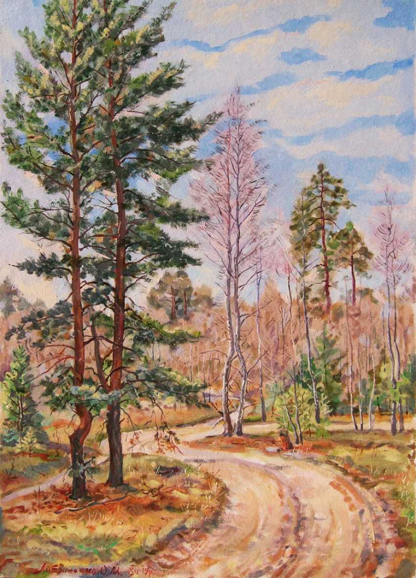 Oleg Lytvynenko. Road in the mixed forest. - photo 1