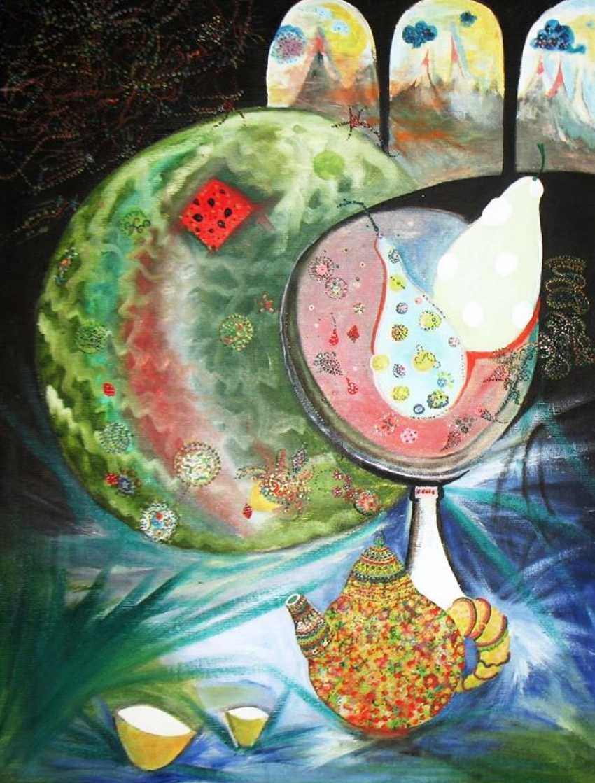 Alekcandr emelyanov. Still life with watermelon on a drawing tablet - photo 1